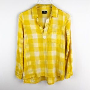 Madewell | Yellow Broadway & Broome Plaid Popover